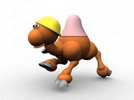 Cartoon camel running 3d model