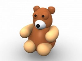 Teddy bear cartoon 3d model