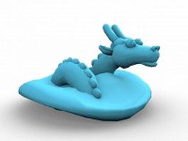 Cute cartoon Chinese dragon 3d model