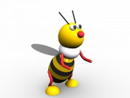 Cartoon bumble bee 3d model