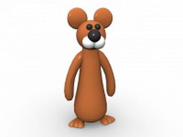 Cartoon mouse character 3d model