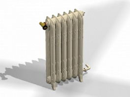 Antique heating radiator 3d model