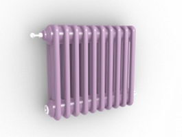 Vertical radiant heater 3d model