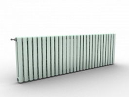 Green radiators 3d model