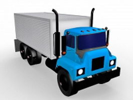 Cube truck 3d model