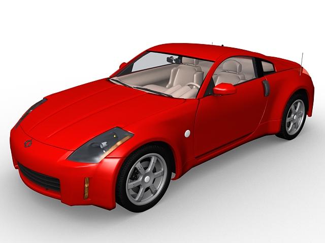 Nissan 350z Coupe 3d Model 3d Studio 3ds Max Files Free