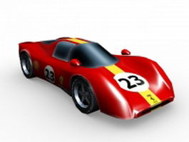Ferrari 330 P4 race car 3d model