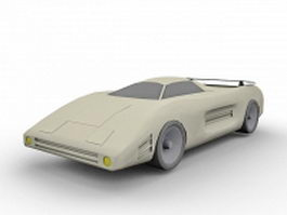 Future sports car 3d preview