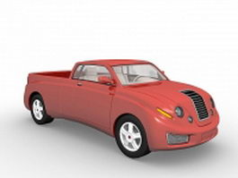 Red pick up truck 3d model