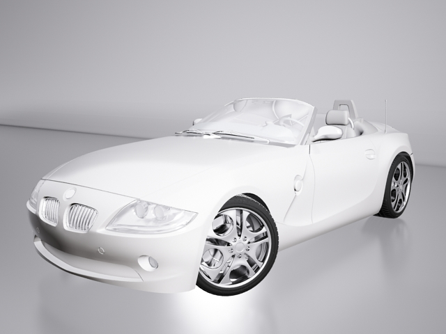BMW Z4 (E89) convertible 3d model 3ds Max files free download