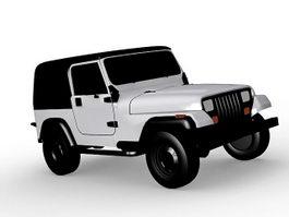 Jeep Wrangler Sahara 3d model