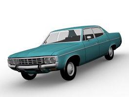 Notchback sedan car 3d model