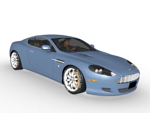 Aston Martin DB9 sports car 3d model 3ds Max files free download