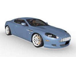 Aston Martin DB9 sports car 3d model
