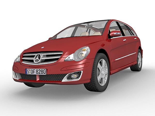 Mercedes R Class Mpv 3d Model 3ds Max Files Free Download