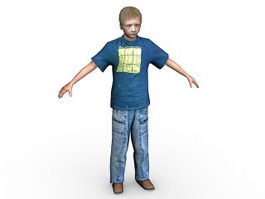 Teenage boy 3d model