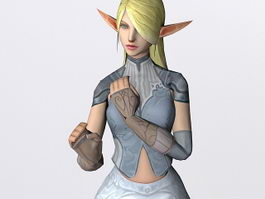 Beautiful elf girl 3d model