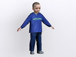 Toddler boy 3d model