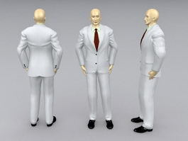 Formal male mannequin 3d model