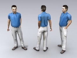 Middle age man 3d model