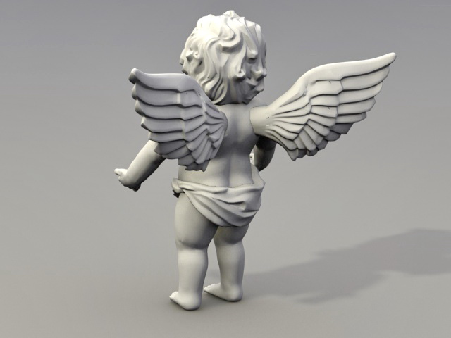 Cherub Angel Garden Statue 3d Model 3ds Max Files Free