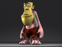 Cartoon humanoid monster 3d model