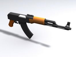 Short-barreled rifle 3d model