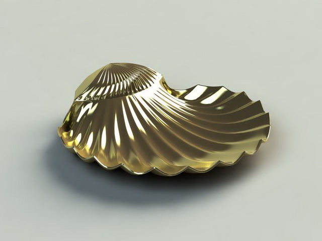 Vintage Shell Soap Dish 3d Model 3ds Max Files Free