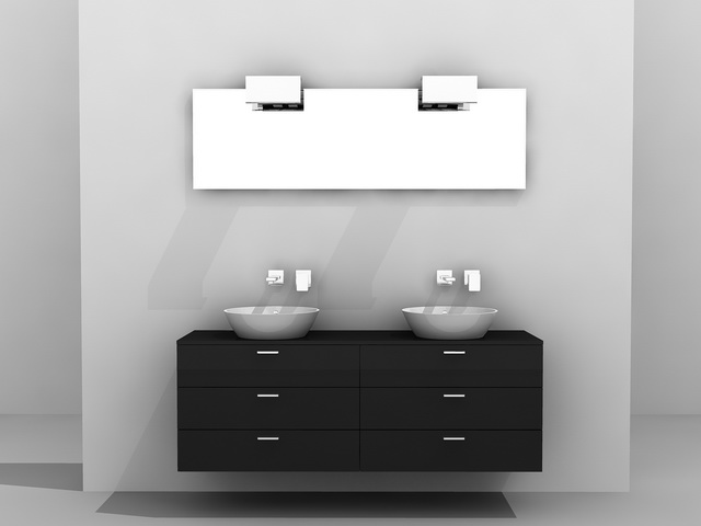 Double Sink Bathroom Vanity 3d Model 3d Studio 3ds Max