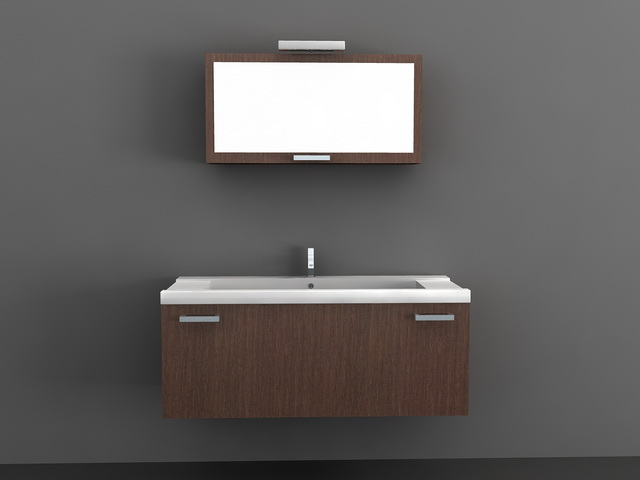 Modern Floating Bathroom Vanity 3d Model