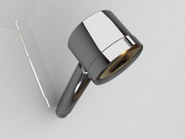 Wall shower head with arm 3d model