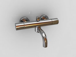 Wall mount bathtub faucet 3d model
