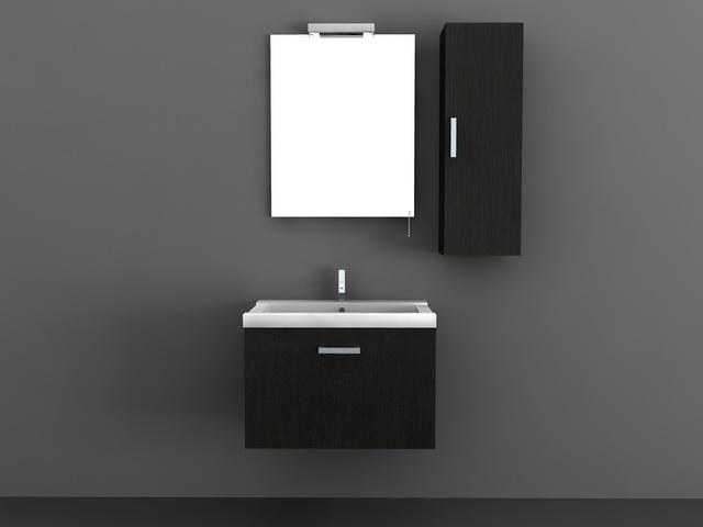 Black Bathroom Vanities 3d Model 3d Studio 3ds Max Autocad Files Free Download Modeling 35633