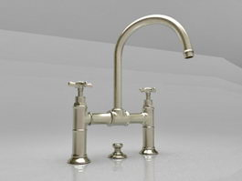 2-Handle basin mixer 3d model