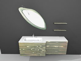 Art deco bathroom vanity 3d model