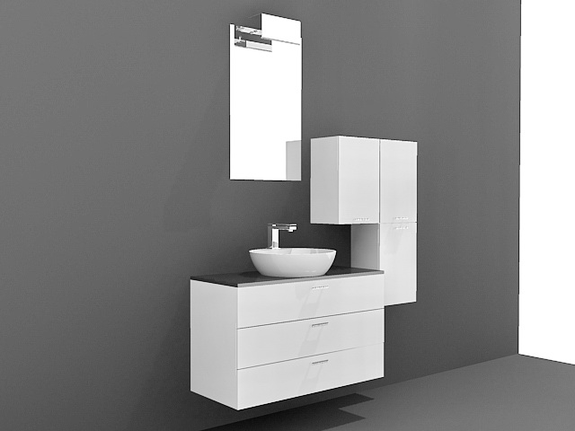 floating bathroom vanity cabinets 3d model