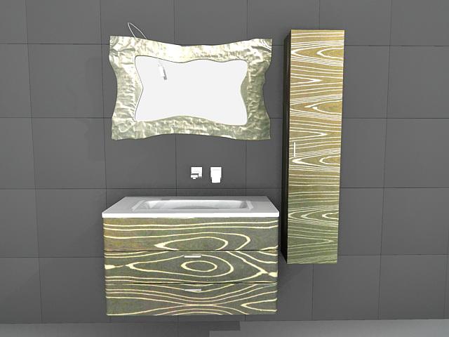 Art Deco Bathroom Vanity Mirror 3d Model 3d Studio 3ds Max