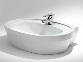 Modern freestanding tub 3d model