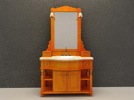 Antique bathroom vanity cabinets 3d model
