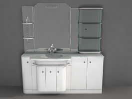 Modern bathroom vanities 3d model
