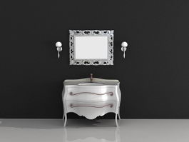 Vintage bathroom vanity 3d model