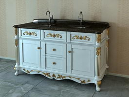 Antique bathroom vanity 3d model