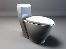 Compact toilet 3d model