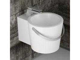 Wall mounted bathroom sink 3d model