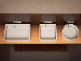 Collection basins 3d model