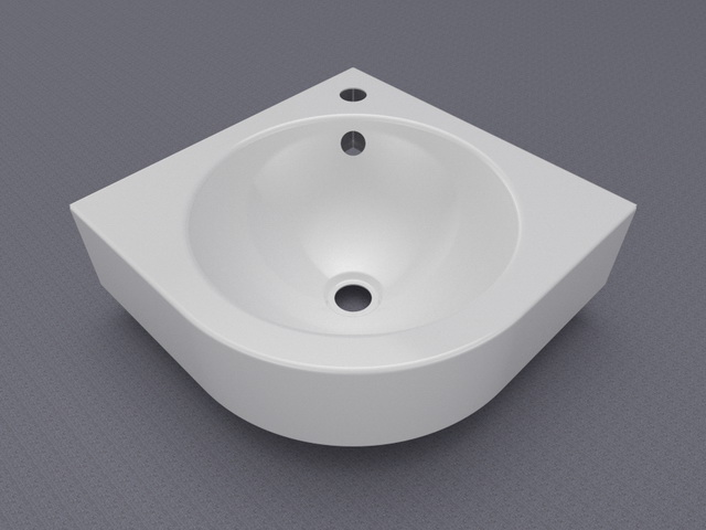 Corner Wash Basin : Corner wash basin 3d model 3ds Max files free download - modeling ...