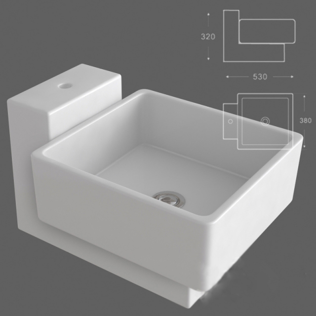 3D Model Of Wall Mount Bathroom Sink. Available 3d File Format: .max  (Autodesk 3ds Max) Free Download This 3d Object And Put It Into Your Scene,  ...