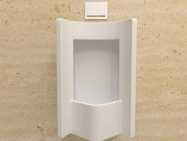 Urinal with sensor 3d model