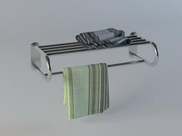 Double towel rack 3d model