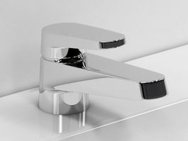 Single handle basin faucet 3d model